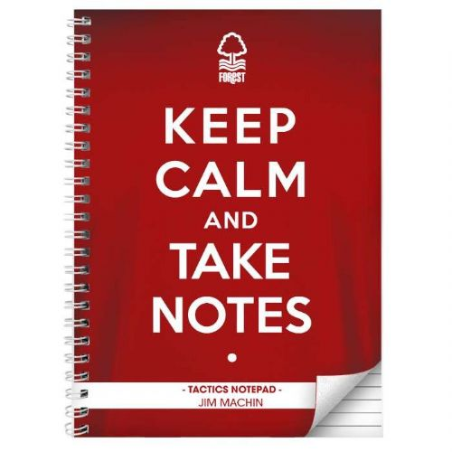 Nottingham Forest Keep Calm A4 Notebook